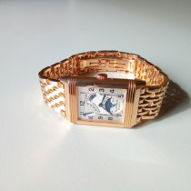 Jaeger-LeCoultre Red gold Manual winding Silver Arabic numerals 42mm pre-owned Reverso (submodel)