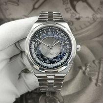 Vacheron Constantin Overseas World Time Steel 43.5mm Blue No numerals
