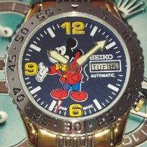 Seiko 5 Sports Steel 35mm Blue Arabic numerals