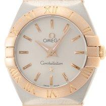 Omega Constellation Quartz Gold/Steel 24mm Silver No numerals