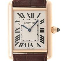 Cartier Tank Louis Cartier Rose gold 25mm Silver Roman numerals