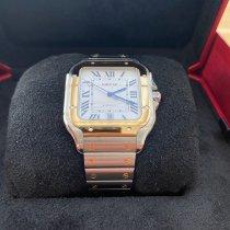 Cartier Santos (submodel) подержанные 39.8mm Cеребро Дата Золото/Сталь
