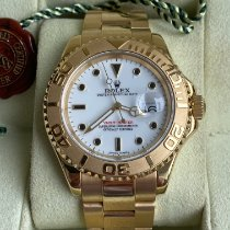 Rolex Yellow gold White pre-owned Yacht-Master 40