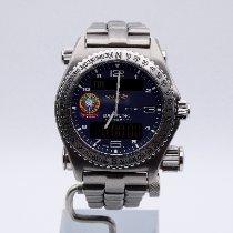 Breitling Emergency Titanium 43mm Blauw Arabisch Nederland, breda