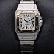 Cartier Santos Galbée Золото/Cталь Белый