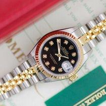 Rolex Lady-Datejust Gold/Stahl 26mm Schwarz Keine Ziffern