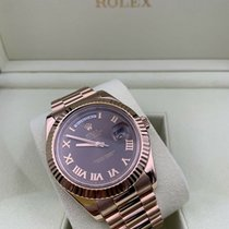 Rolex Day-Date II Rose gold 41mm Brown Roman numerals United States of America, Florida, Coconut Creek