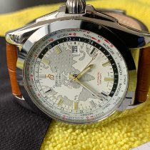 Breitling Galactic Unitime pre-owned 44mm White Date GMT
