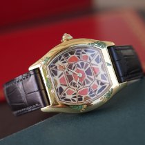 Cartier Yellow gold Manual winding Brown 34mm pre-owned Tortue