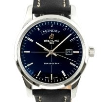 Breitling Transocean Day & Date Staal 43mm Zwart