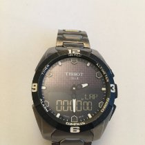 Tissot T-Touch Expert Solar pre-owned 45mm Black Chronograph Date Weekday Alarm GMT Titanium