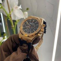 Audemars Piguet Royal Oak Chronograph Oro rosa 41mm Negro Sin cifras