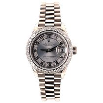 Rolex 69179 Or blanc Lady-Datejust 26mm occasion