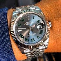 Rolex Datejust Acier 41mm Gris Sans chiffres France, Colombes