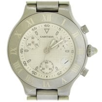 Cartier 21 Chronoscaph Steel 38mm White No numerals United States of America, New York, New York
