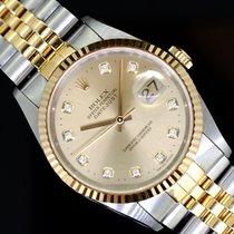 Rolex Datejust 16233 Muito bom Ouro/Aço 36mm Automático