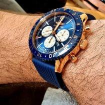 Breitling Chronoliner Красное золото 46mm Синий Без цифр