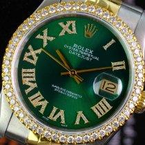 Rolex Datejust Gold/Steel 36mm Green No numerals United States of America, California, Sherman Oaks