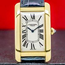Cartier Tank Américaine Yellow gold 26.5mm Roman numerals United States of America, Massachusetts, Boston