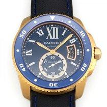 Cartier Rose gold Automatic Blue 42mm new Calibre de Cartier Diver