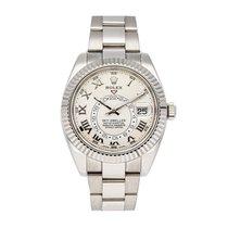 Rolex White gold Automatic White Roman numerals 42mm Sky-Dweller