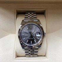 Rolex Złoto białe Automatyczny Szary Bez cyfr 41mm nowość Datejust