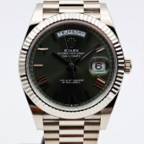 Rolex Day-Date 40 Oro bianco 40mm Verde Romani Italia, Castel Mella , Brescia