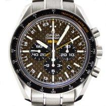 Omega Speedmaster HB-SIA pre-owned 44.25mm Black Chronograph Date GMT Tachymeter Titanium