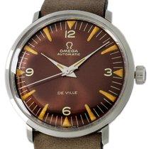Omega De Ville pre-owned 34mm Brown Leather