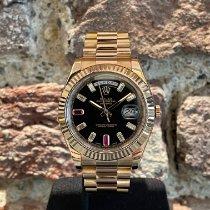 Rolex Oro rosa Automático Negro 41mm usados Day-Date II