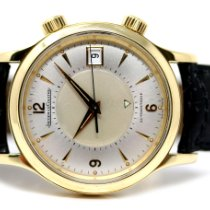 Jaeger-LeCoultre Yellow gold Automatic Silver Arabic numerals 38.5mm pre-owned Master Memovox