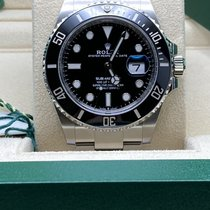 Rolex Submariner Date Stal 41mm Czarny Bez cyfr