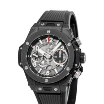 Hublot Big Bang Unico pre-owned 40mm Transparent Chronograph Date Rubber