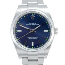 Rolex Oyster Perpetual 39 Steel 39mm Blue No numerals United Kingdom, Manchester