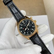 IWC Pilot Chronograph Or rose 42mm Noir Arabes