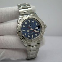 Rolex Platinum Automatic Blue No numerals 40mm pre-owned Yacht-Master