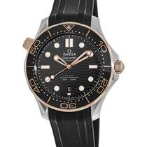 Omega Seamaster Diver 300 M Сталь Черный Без цифр