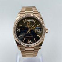 Rolex Day-Date 36 Pозовое золото 36mm Коричневый Без цифр