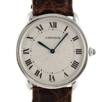 Cartier Platinum Manual winding Silver 33.5mm pre-owned