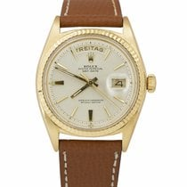 Rolex Day-Date 36 Yellow gold 36mm Silver United States of America, New York, Massapequa Park