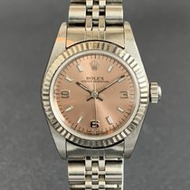 Rolex Oyster Perpetual pre-owned 24mm Pink Steel