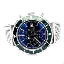 Breitling Superocean Heritage Chronograph Staal 46mm Zwart Geen cijfers Nederland, Vinkeveen