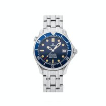 Omega Seamaster Diver 300 M pre-owned 36mm Blue Date Fold clasp