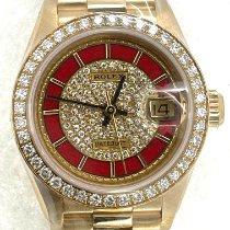 Rolex Lady-Datejust Желтое золото Красный
