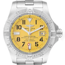 Breitling Avenger Seawolf pre-owned 45.4mm Yellow Date Steel