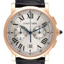 Cartier Rotonde de Cartier Rose gold 40mm Silver Roman numerals