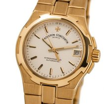 Vacheron Constantin Yellow gold Automatic Silver No numerals 36mm pre-owned Overseas