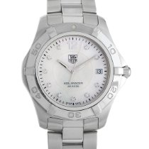 TAG Heuer Aquaracer pre-owned 38mm Mother of pearl Date Steel