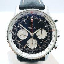 Breitling Navitimer 1 B01 Chronograph 43 tweedehands 43mm Zwart Chronograaf Datum Leer