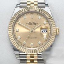 Rolex Datejust 126333 Odlično Zlato/Zeljezo 41mm Automatika